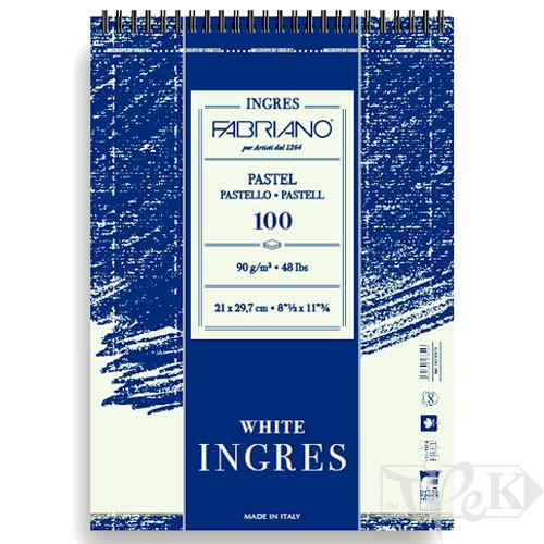 19212970 Альбом для пастелі на спіралі Ingres А4 (21х29,7 см) 90 г/м.кв. 100 аркушів Fabriano Італія