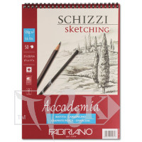 44122129 Альбом для графики на спирали Accademia А4 (21х29,7 см) 120 г/м.кв. 50 листов Fabriano Италия