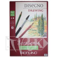 44204259 Альбом для влажных техник на спирали Accademia А2 (42х59,4 см) 200 г/м.кв. 30 листов Fabriano Италия