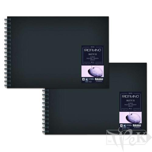 28029660 Альбом для ескізів Sketch Book А3 (29,7х42 см) 110 г/м.кв. 80 аркушів в твердій обкладинці на спіралі Fabriano Італія
