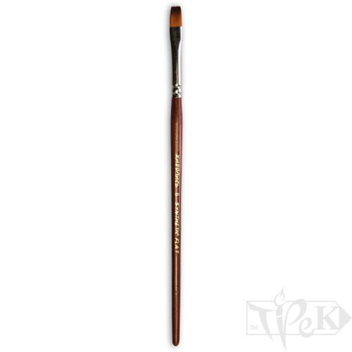 Кисточка «Живопись» 1122 Синтетика плоская № 06 короткая ручка рыжий ворс