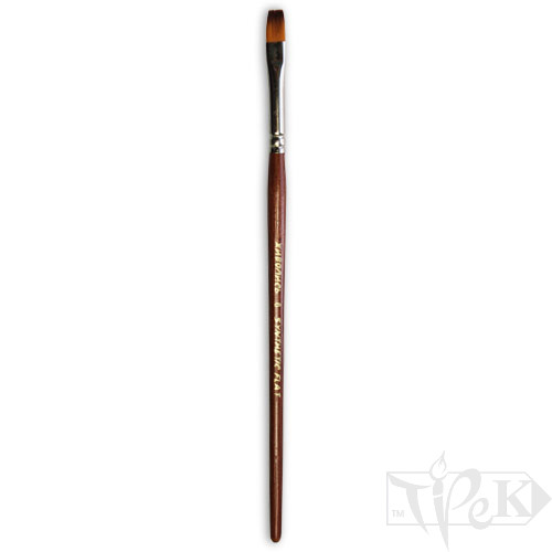 Пензлик «Живопис» 1122 Синтетика плоска № 06 коротка ручка рудий ворс
