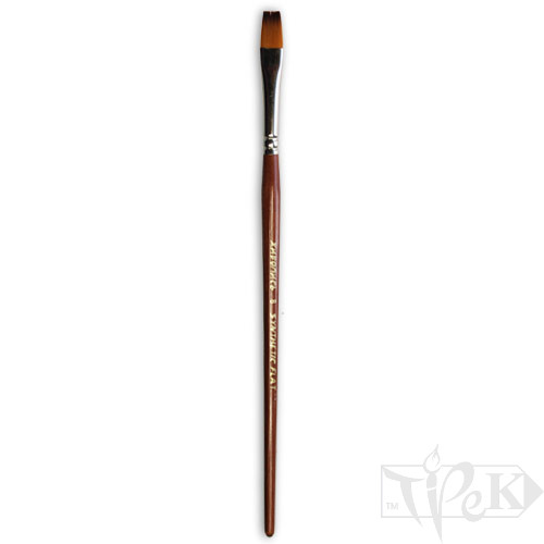 Пензлик «Живопис» 1122 Синтетика плоска № 08 коротка ручка рудий ворс