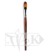 Кисточка «Живопись» 1124 Синтетика овальная № 16 короткая ручка рыжий ворс