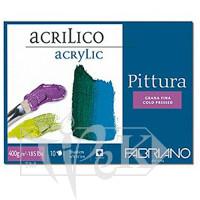 40004040 Альбом для акриловой живописи Pittura 40х40 см 400 г/м.кв. 10 листов Fabriano Италия