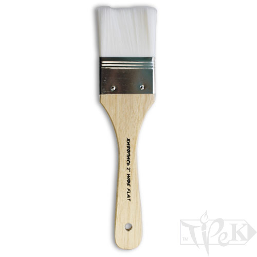 Флейц «Живопис» 6101 Синтетика плоска 2'' білий ворс