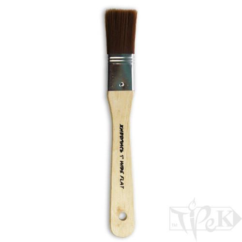 Флейц «Живопись» 6110 Синтетика плоская 1'' коричневый ворс