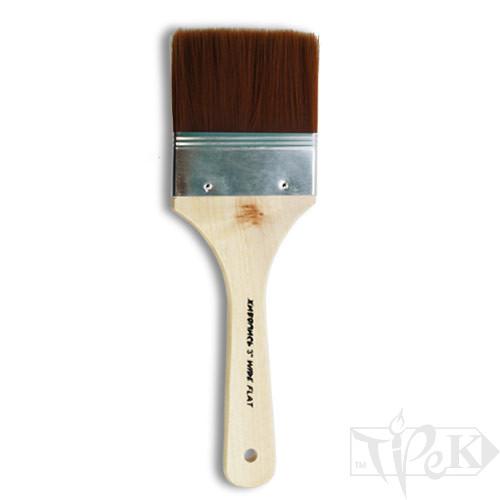 Флейц «Живопис» 6110 Синтетика плоска 3'' коричневий ворс