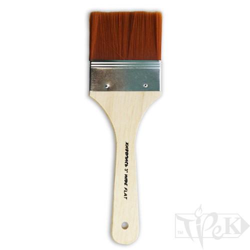 Флейц «Живопис» 6111 Синтетика плоска 3'' золотистий ворс