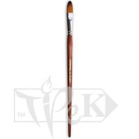 Кисточка «Живопись» 1127 Синтетика овальная № 16 длинная ручка рыжий ворс