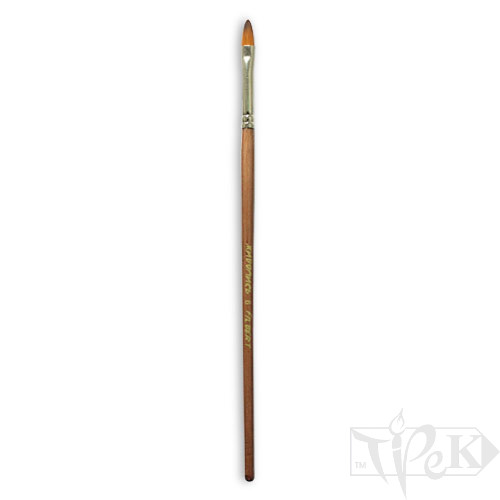 Пензлик «Живопис» 1127 Синтетика овальна № 06 довга ручка рудий ворс