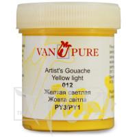 Гуашевая краска Van Pure 40 мл 012 желтая светлая