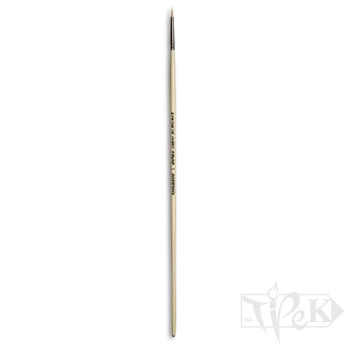 Кисточка Ivory «Живопись» 1311 Синтетика круглая № 01 длинная ручка бежевый ворс
