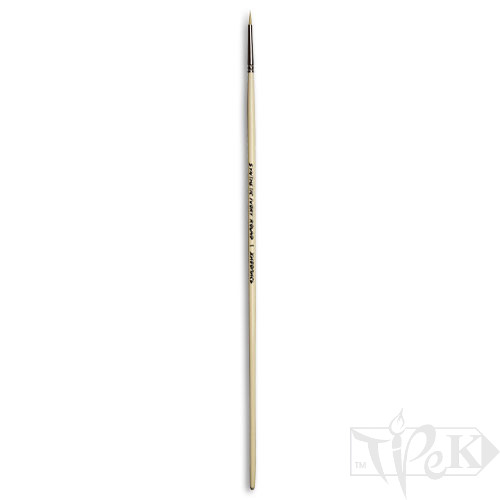 Пензлик Ivory «Живопис» 1311 Синтетика кругла № 01 довга ручка бежевий ворс