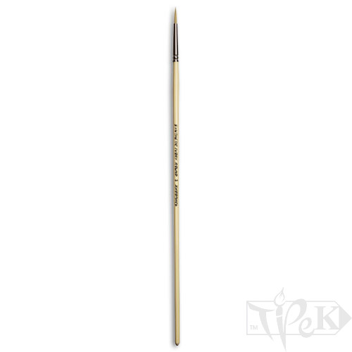 Кисточка Ivory «Живопись» 1311 Синтетика круглая № 03 длинная ручка бежевый ворс