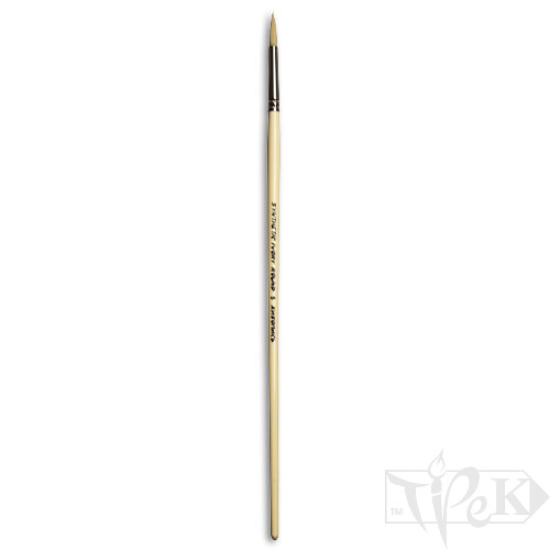 Пензлик Ivory «Живопис» 1311 Синтетика кругла № 05 довга ручка бежевий ворс