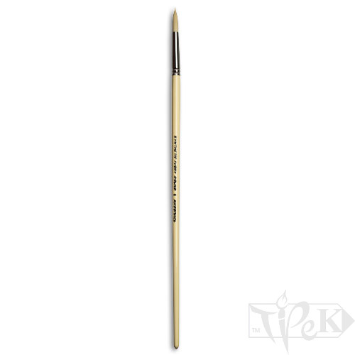 Кисточка Ivory «Живопись» 1311 Синтетика круглая № 06 длинная ручка бежевый ворс