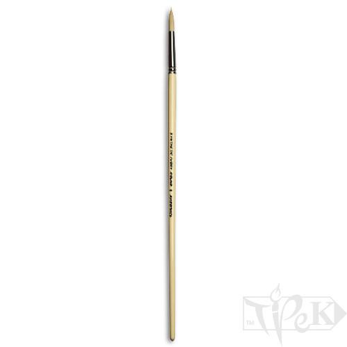 Пензлик Ivory «Живопис» 1311 Синтетика кругла № 06 довга ручка бежевий ворс