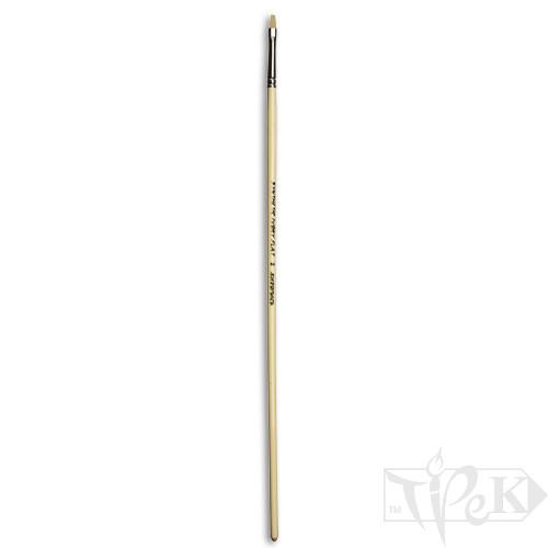 Кисточка Ivory «Живопись» 1312 Синтетика плоская № 02 длинная ручка бежевый ворс