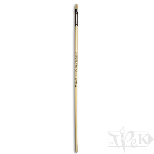 Пензлик Ivory «Живопис» 1312 Синтетика плоска № 04 довга ручка бежевий ворс