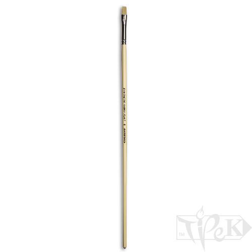 Кисточка Ivory «Живопись» 1312 Синтетика плоская № 06 длинная ручка бежевый ворс