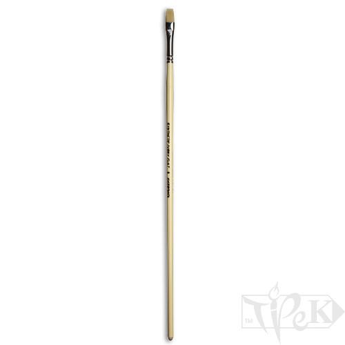 Пензлик Ivory «Живопис» 1312 Синтетика плоска № 08 довга ручка бежевий ворс