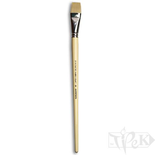 Кисточка Ivory «Живопись» 1312 Синтетика плоская № 24 длинная ручка бежевый ворс