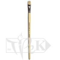 Кисточка Ivory «Живопись» 1312 Синтетика плоская № 16 длинная ручка бежевый ворс