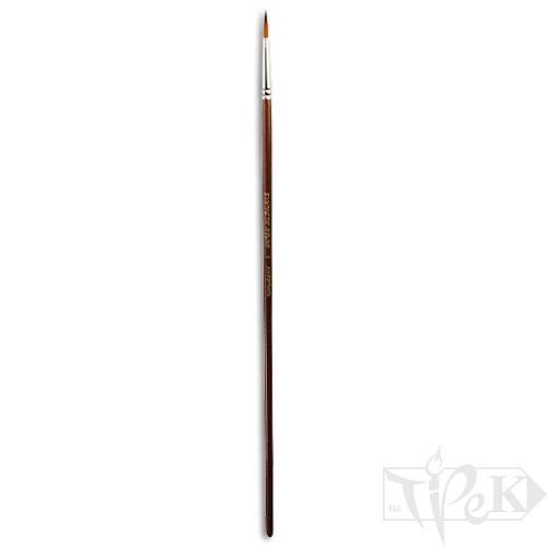Кисточка «Живопись» 1128 Синтетика круглая № 04 длинная ручка рыжий ворс