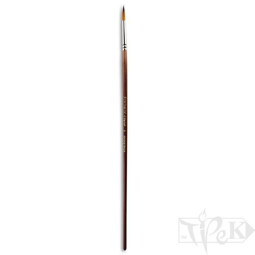 Кисточка «Живопись» 1128 Синтетика круглая № 06 длинная ручка рыжий ворс