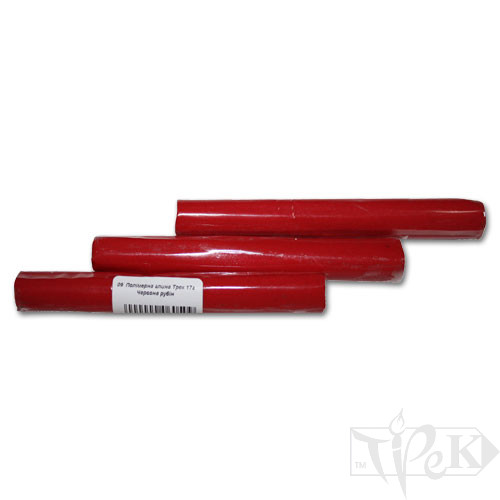 Полимерная глина 09 красная рубин 17 г «Трек» Украина