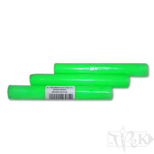Полімерна глина 01 світло-зелена флуоресцентна 17 г «Трек» Україна