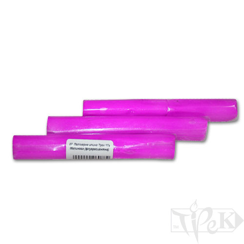 Полимерная глина 07 малиновая флуоресцентная 17 г «Трек» Украина