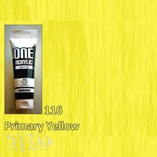 Акриловая краска ONE 120 мл 116 желтый основной Maimeri Италия