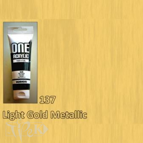 Акрилова фарба ONE 120 мл 137 золото світле Maimeri Італія