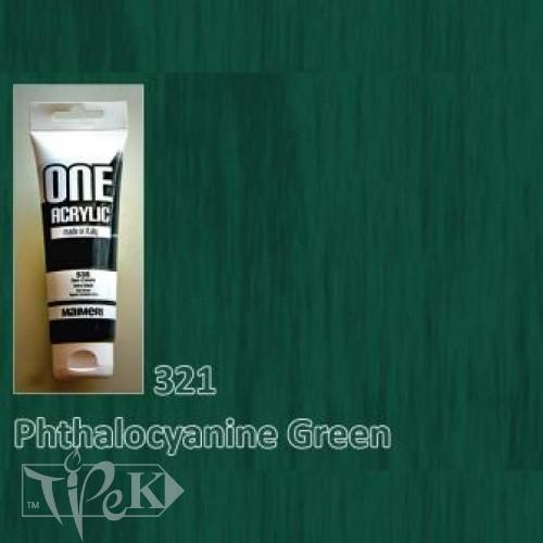 Акриловая краска ONE 120 мл 321 зеленый ФЦ Maimeri Италия