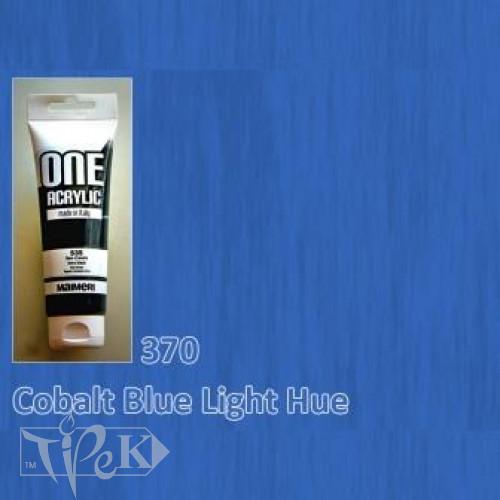 Акрилова фарба ONE 120 мл 370 кобальт синій світлий (імітація) Maimeri Італія