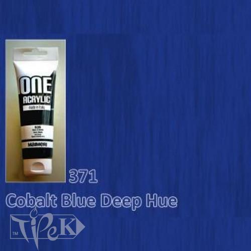 Акриловая краска ONE 120 мл 371 кобальт синий светлый (имитация) Maimeri Италия