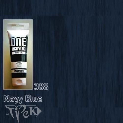 Акриловая краска ONE 120 мл 388 синий морской Maimeri Италия