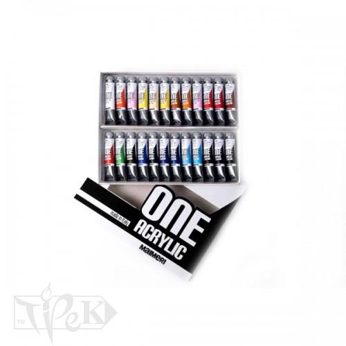 Набор акриловых красок ONE 024 24 цвета по 20 мл Maimeri Италия