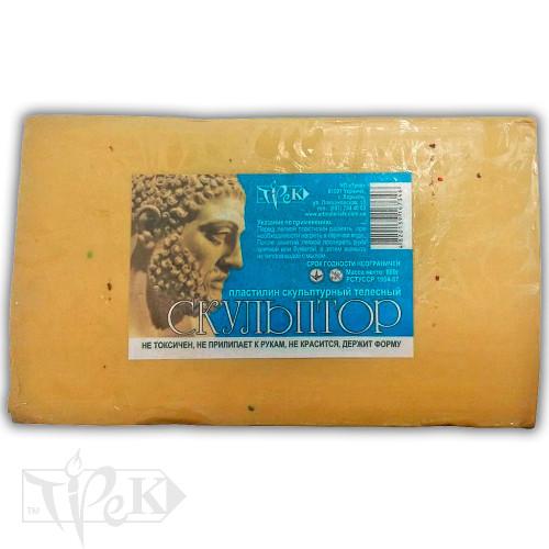 Пластилин скульптурный «Скульптор» телесный 0,8 кг «Трек» Украина