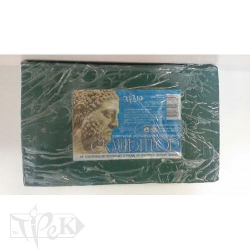 Пластилин скульптурный «Скульптор» оливковый 0,8 кг «Трек» Украина
