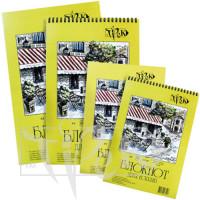Блокнот для эскизов А5 (14,8х21 см) на спирали белая бумага 90 г/м.кв. 50 листов «Трек» Украина
