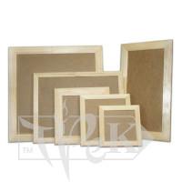 Деревянная рамка для декора с ДВП 15х15 см (планка 25х16)