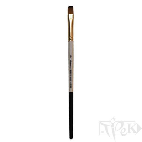 Кисточка «Kissточка» 72020 Синтетика плоская № 06 короткая ручка рыжий ворс