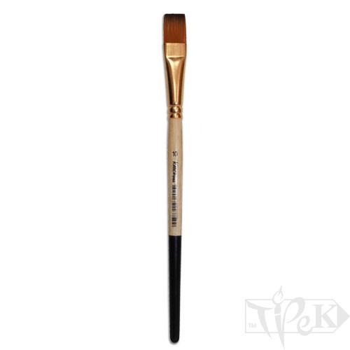 Кисточка «Kissточка» 72020 Синтетика плоская № 10 короткая ручка рыжий ворс