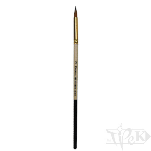 Пензлик «Kissточка» 72010 Синтетика кругла № 03 коротка ручка рудий ворс