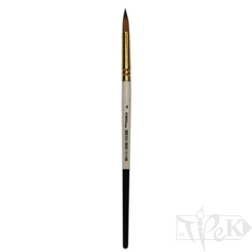 Пензлик «Kissточка» 72010 Синтетика кругла № 04 коротка ручка рудий ворс