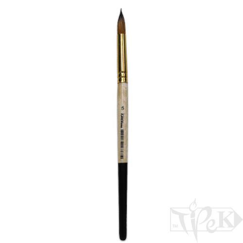 Пензлик «Kissточка» 72010 Синтетика кругла № 05 коротка ручка рудий ворс