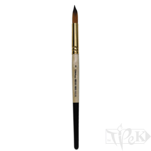 Пензлик «Kissточка» 72010 Синтетика кругла № 06 коротка ручка рудий ворс